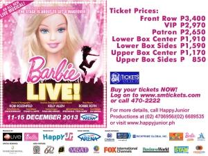 Barbie Live poster